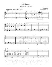 download sir duke you can feel it all over sheet music by stevie