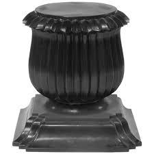 Rajiv Saini by Black Moroso Capitello Pedestal End Table By Rajiv Saini Italy