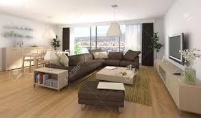 Esszimmer Design Interior Design Szene Der Moderne Apartment Mit Wohnzimmer Und