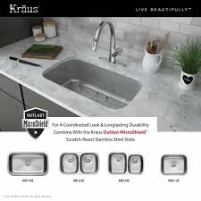 kraus arqo dual function pull down kitchen faucet in stainless