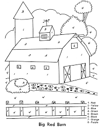 christmas color by number pages kids coloring