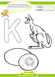 10 best letter k worksheets images on pinterest coloring pages