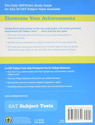 the official study guide for all sat subject tests 2nd ed the