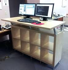 desk standing computer desk height computer standing desk with