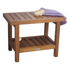 Teak Shower Bench Corner Bench Teak Spa Bench Aqua Teak Spa Bench Shelf In Wide Hayneedle