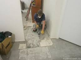 removing floor tiles and thinset