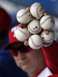 Johnny Bench Fingers Superior Johnny Bench Holding Baseballs Part 7 Johnny Bench In