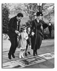 film disney jump in mary poppins bert and the children jump into the chalk drawing in
