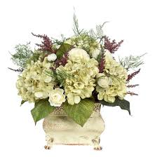 Flower Decorations For Home by Decor Home Accent With Hydrangea Arrangements And White Vase For