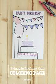 printable birthday cards that you can color printable birthday cards coloring page printable birthday cards