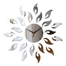 direct selling home decor new arrival diy direct selling mirror sun acrylic wall clock clocks