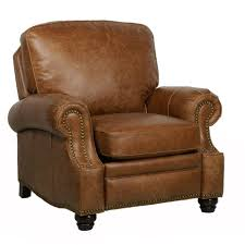barcalounger longhorn ii leather recliner chair leather recliner