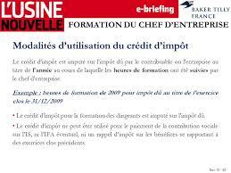 Credit Impot Pour Formation Dirigeant Nov Le Credit D Impot Un Outil D Optimisation Pour L Entreprise