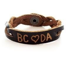 Personalized Name Bracelets Personalized Name Id Leather Bracelet Engraved Gift Ebay
