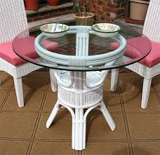 Glass Bistro Table Pole Rattan 36 Bistro Table With Glass Top