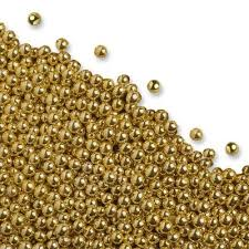 small edible sugar gold balls 4mm