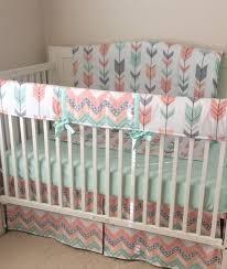 Navy Nursery Bedding Nursery Beddings Navy And Coral Baby Bedding Coral Crib Bedding