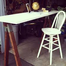 furniture sleek sawhorse desk design with vase learn easy way furniture simple and minimalist white sawhorse desk design with small white chair sawhorse desk