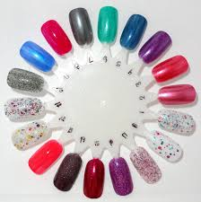glossy and glitter nail wheels stash list