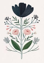 Floral Art Designs Clare Owen Flower Illustration Art Blumen Illustration Print