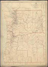 map of oregon nevada post route map of the states of oregon and washington with