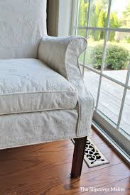 dining chair dressed up in embroidered slipcover the slipcover maker
