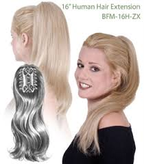 clip on ponytail look of int l bfm 16h zx lp human hair butterfly clip ponytail