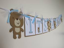 its a boy teddy bear baby shower banner teddy bear baby shower its a boy teddy bear baby shower banner