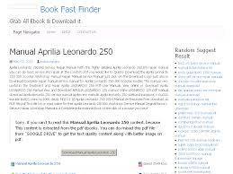 28 manual aprilia leonardo 250