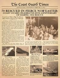 the coast guard times honored the 60th anniversary of the rescue