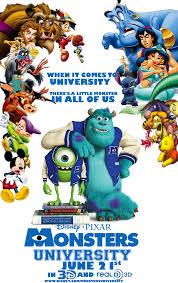 disney pixar u0027s monsters university poster edogg8181804