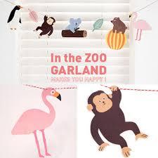 Penguin Baby Shower Decorations Baby Shower Hanging Animal Garland Monkey Bear Penguin Baby Shower