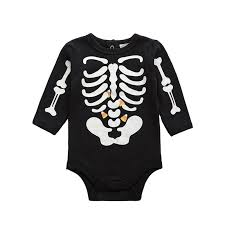 2017 halloween baby boy clothes infant bebe luminous skull