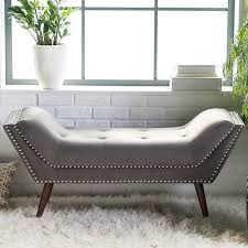 Gray Bedroom Bench Upholstered Bench Seat Modern Grey Bedroom Entryway Window Foyer