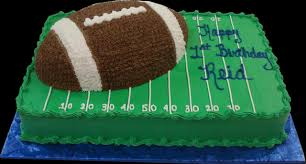 football cakes football 1st birthday cake green buttercream iced sheet cake