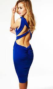 clothing bodycon dresses u0027chelsea u0027 cobalt blue cut out