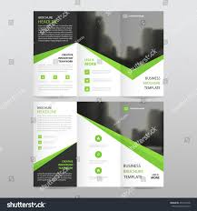 green black triangle business trifold leaflet stock vector