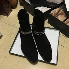 real picture handmade sliver chain decoration ankle strap suede