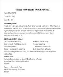 Senior Accountant Sample Resume by 33 Accountant Resumes In Doc Free U0026 Premium Templates