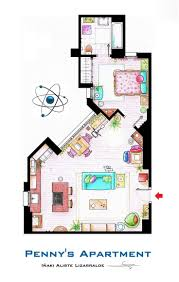 the big bang theory film making frasier crane apartment floor plan