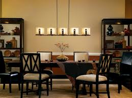 lighting dining room lights ideas with linear chandelier Kitchen And Dining Room Lighting