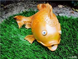 pool fish spitter goes for lawn ornament gold homejelly