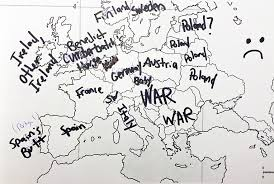 world map black and white with country names pdf americans were asked to place european countries on a map here s