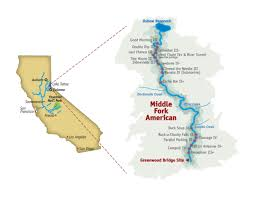 South America Rivers Map by Middle South Fork American River 2 Day River Rafting Trip
