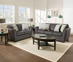Simmons Flannel Charcoal Living Room Furniture Collection Big Lots - Big lots living room sofas
