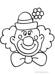 coloring pages of scary clowns clown face template printable clown u0027s face coloring page free