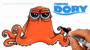 how to draw hank the octopus from u0027finding dory u0027 step by step
