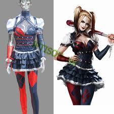 Halloween Costume Harley Quinn Aliexpress Buy Batman Arkham Asylum Harley Quinn Dress