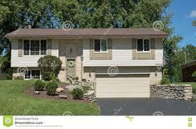 split level house split level house with lower garage stock photo image 77166611