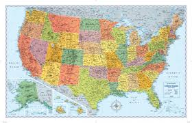 map of us states poster united states wall map usa poster 22x17 or project highways of
